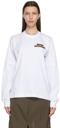 Sacai White Hank Willis Thomas Edition Graphic Long Sleeve T-Shirt