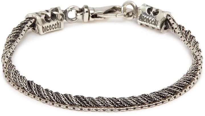 Emanuele Bicocchi Braided chain silver bracelet