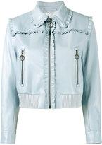 Miu Miu frill-trimmed jacket