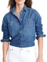Lauren Ralph Lauren Petite Denim Utility Shirt