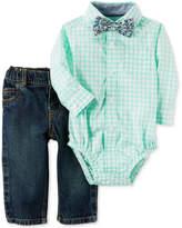 Carter's 3-Pc. Cotton Bow Tie, Bodysuit & Jeans Set, Baby Boys