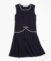 Brooks Brothers Cotton Sleeveless Pleated Dress