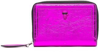 Karl Lagerfeld Paris Zip-Up Leather Wallet