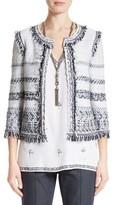 St. John Women's Tajdar Fringe Tweed Jacket