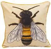 Karma Living Brown & Yellow Bumblebee Pillow