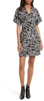 Diane von Furstenberg Women's Burnout Print A-Line Wrap Dress