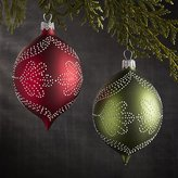 Crate & Barrel Pindot Drop Ornaments