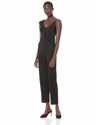 Bebe Women's Asymmetrical Ruffle Jumpsuit