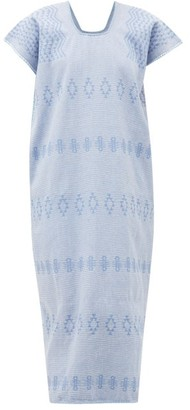 Pippa Holt - No.186 Embroidered Cotton Kaftan - Womens - Blue Multi