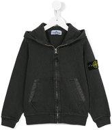 Stone Island Kids logo patch hoodie