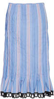 Marni High Waist Striped Skirt