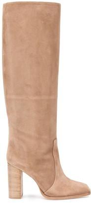 Paris Texas Block Heel Knee-High Boots