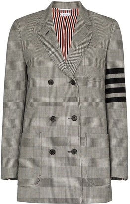 Thom Browne 4-Bar motif double-breasted blazer