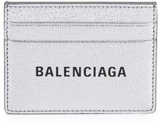 Balenciaga Everyday Metallic Leather Card Case