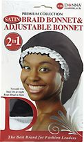 Donna Black & White Adjustable Braid Bonnet