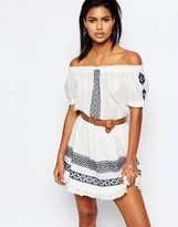 Tularosa Off Shoulder Baxter Dress with Embroidery