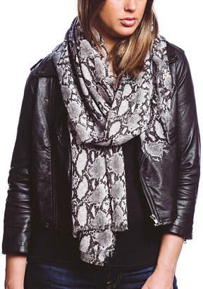 Barrington Women's Accent Scarves BLACK - Black & Gray Python Snake Print Scarf - Women