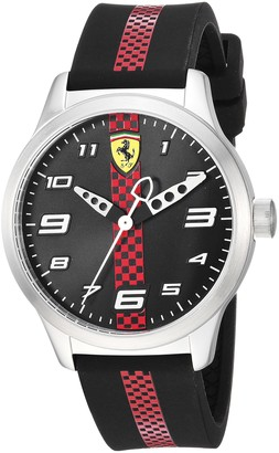 Ferrari Pitlane Quartz Stainless Steel and Silicone Strap Casual Watch