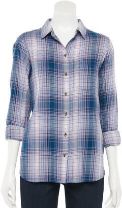Sonoma Goods For Life Women's Essential Fall Button-Down Shirt