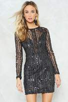 Nasty Gal Sequin Good Times Only Dress