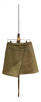 Carven Green Wool Skirts
