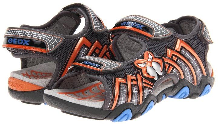 Geox Kids - Jr Sandal Strike 8 (Little Kid) (Navy/Silver) - Footwear