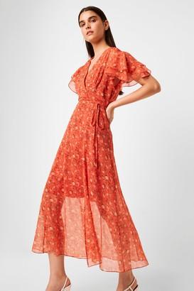 French Connenction Esi Crinkle Midi Tea Dress