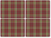 Pimpernel Glen Lodge Tartan Red Placemats (Set of 4)