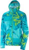 Salomon Bluebird & Enamel Blue Lightning Wind Graphic Hoodie - Women