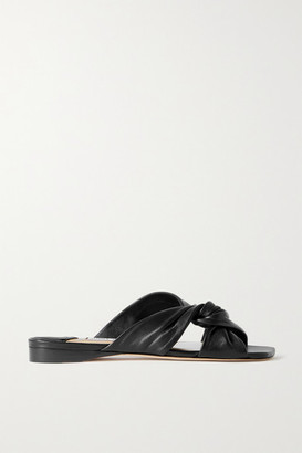 Jimmy Choo Narisa Knotted Leather Sandals - Black
