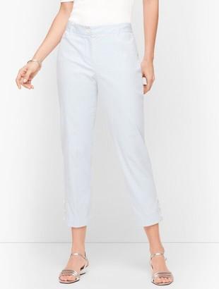 Talbots Perfect Crop Pants - Stripe - Curvy Fit