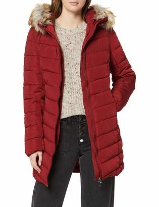 Only Women's ONLELLAN Quilted Hood Fur Coat OTW