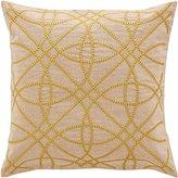 Sheridan Cotton Branay Cushion, Gold, 50 cm x 50 cm