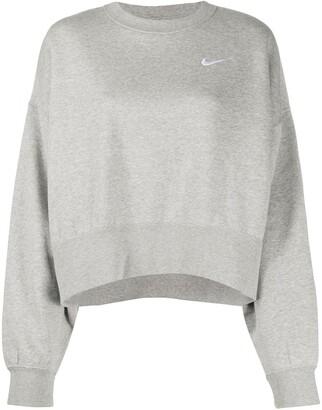Nike Swoosh logo cropped sweatshirt