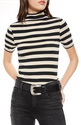 Treasure & Bond Stripe Roll Neck T-Shirt