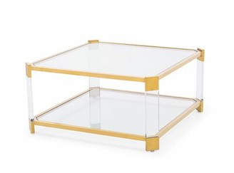 Blink Home Carson Coffee Table Color: Antique Gold
