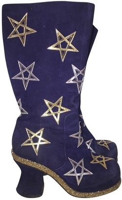 Meadham Kirchhoff Blue Suede Boots