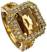 ABS Smokey Quartz Crystal Holiday Gems Cocktail Ring