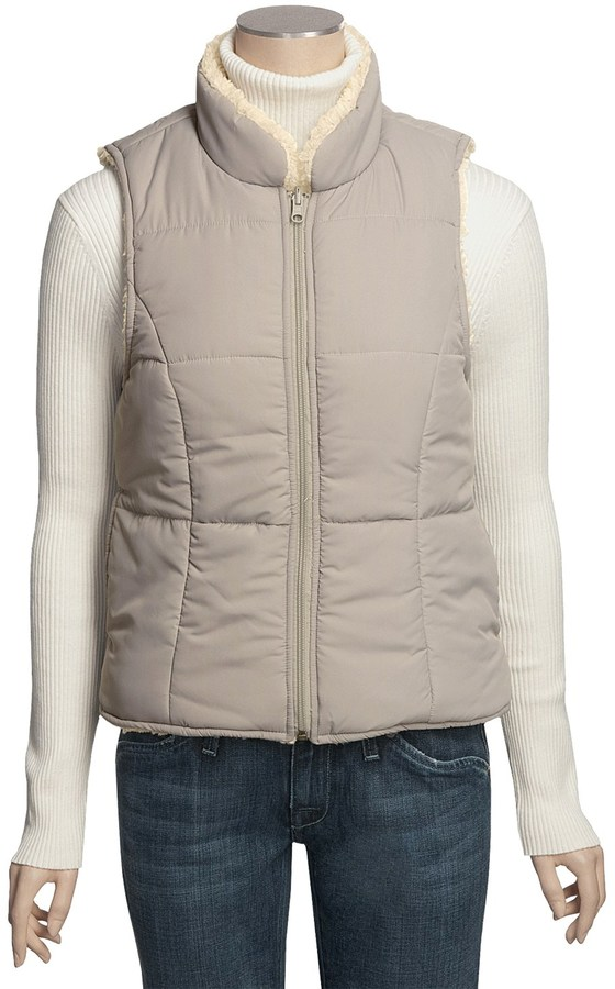 True Grit Sherpa Vest - Reversible (For Women)
