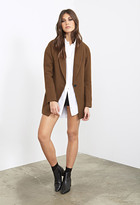 Forever 21 Shawl Collar Overcoat