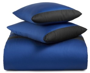 Calvin Klein Joan Cotton 500-Thread Count 3-Pc. Cobalt Queen Duvet Set Bedding