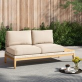 Oasis River Patio Loveseat with Cushions Foundstone Cushion Color: Cast