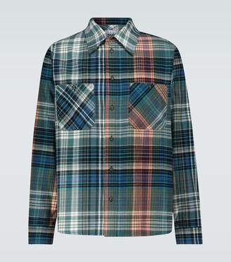 Off-White Stencil flannel checked shirt