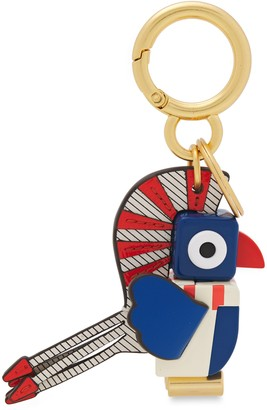Tory Burch Printed Leather And Resin Keychain