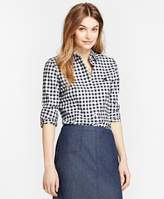 Brooks Brothers Gingham Brushed-Twill Shirt