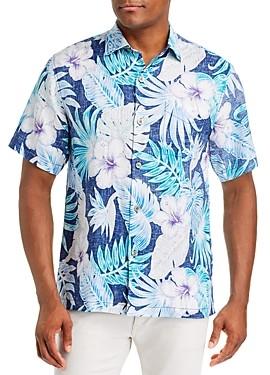 Tommy Bahama Konkan Jungle Regular Fit Short-Sleeve Linen Shirt