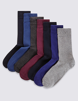 M&S Collection 7 Pairs of FreshfeetTM Cotton Rich Socks