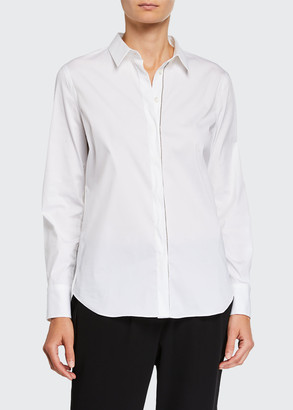 Brunello Cucinelli Monili-Beaded Long-Sleeve Poplin Shirt