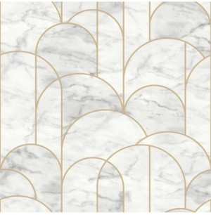 "Engblad & Co Engblad Co 21"" x 396"" Arch Light Geometric Wallpaper"