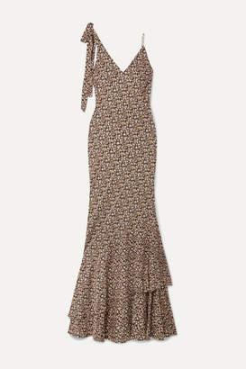 Rebecca Vallance Ellie Floral-print Crepe Maxi Dress - Black